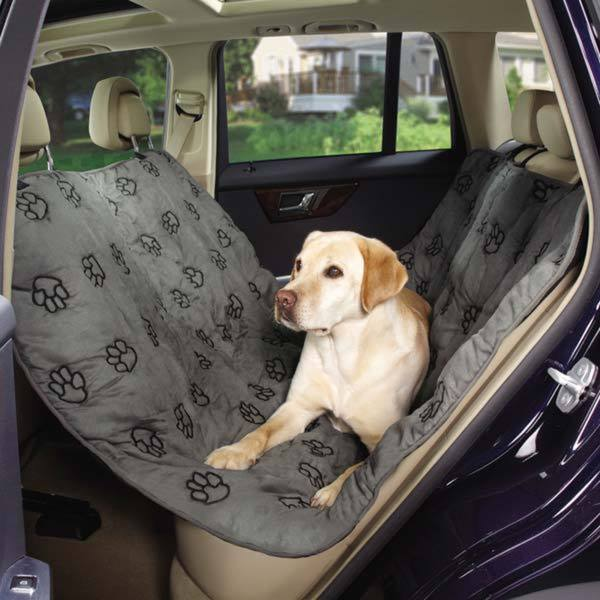 Guardian Gear Grey/Brown Pawprint Hammock Car Seat Cover