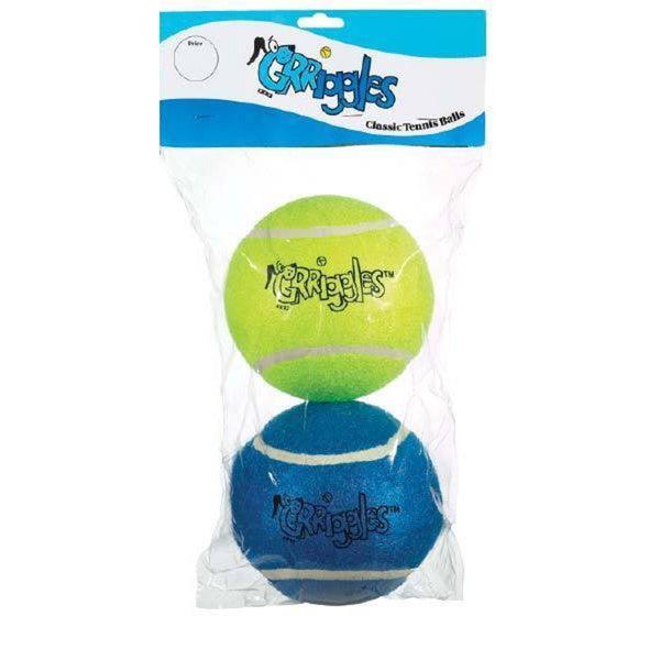 Grriggles Classic Tennis Balls 5-inch Dog Toys (Set of 2)