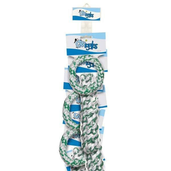 Grriggles Mintees Rope Dog Toys on a Clip Strip (Pack of 12)