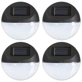 Solar Lights - Outdoor Rechargeable Battery Powered LED Exterior Lighting with Auto On by Pure Garden (Set of 4)