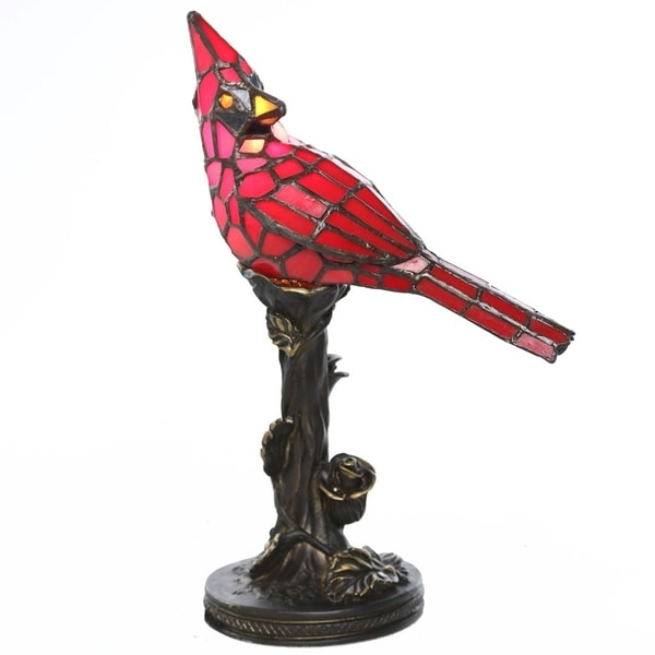 River of Goods Stained Glass 13-inch Cardinal Accent Lamp 19371750