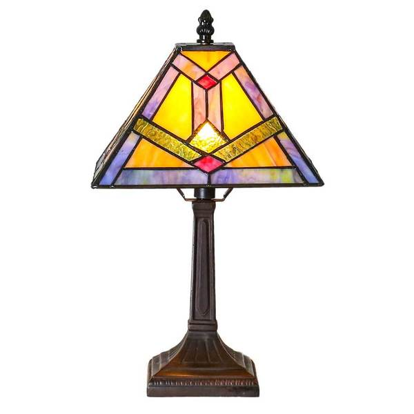 Stained Glass Tiffany Style Five Five Inch Southwestern Sunrise Accent Lamp Free Shipping Today