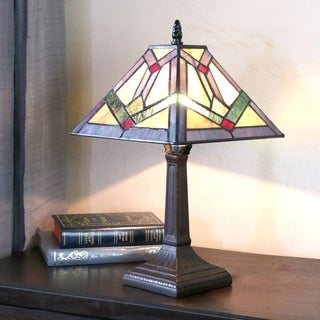 Stained Glass Tiffany-style 15.25-inch Southwestern Sunrise Accent Lamp
