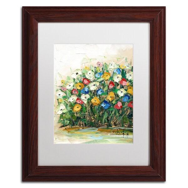 Hai Odelia 'Spring Flowers in a Vase 10' Matted Framed Art
