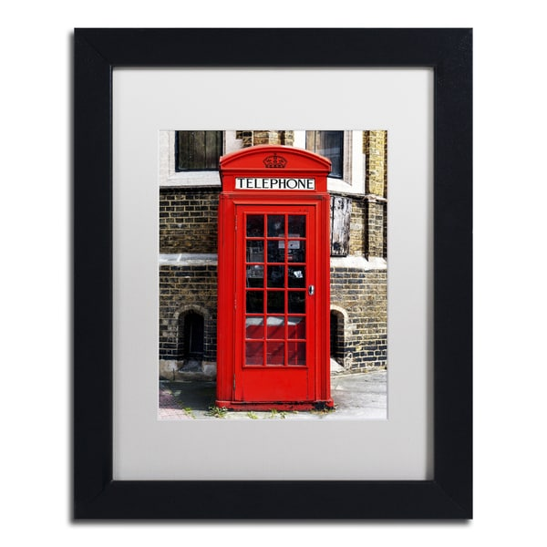 Philippe Hugonnard 'English Phone Booth London' Matted Framed Art 19372636