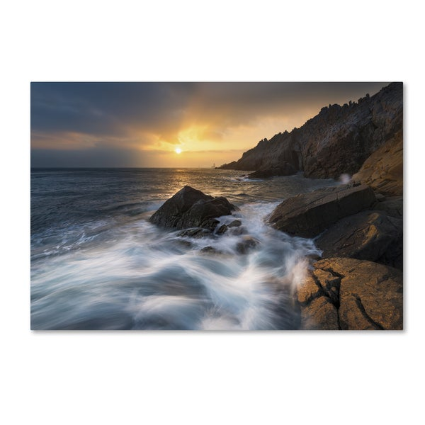 Mathieu Rivrin 'Tides of the Century in Pointe du Raz' Canvas Art