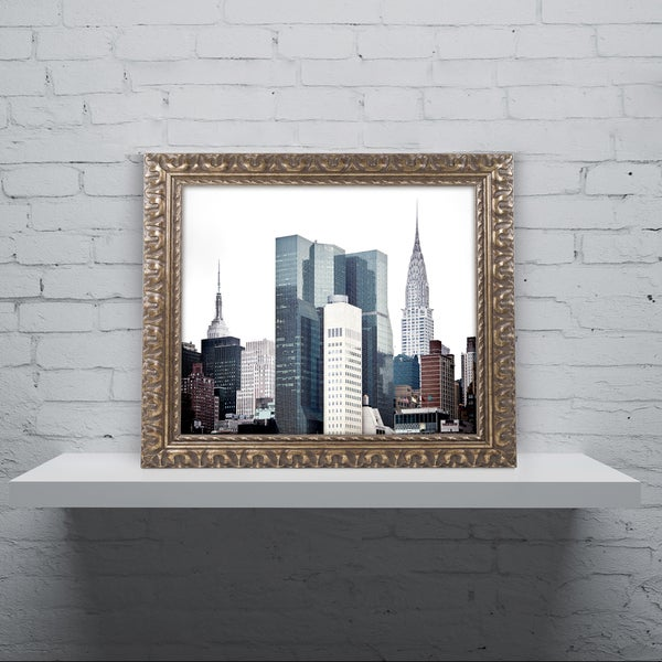 Philippe Hugonnard 'New York Architecture' Ornate Framed Art
