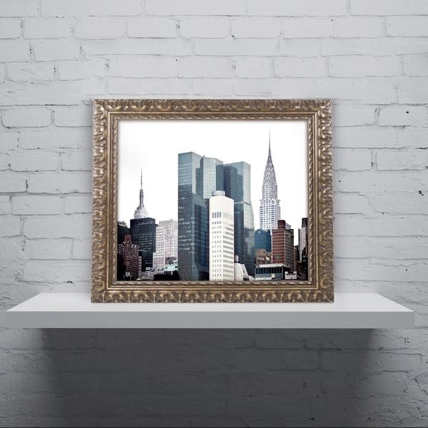 Philippe Hugonnard 'New York Architecture' Ornate Framed Art