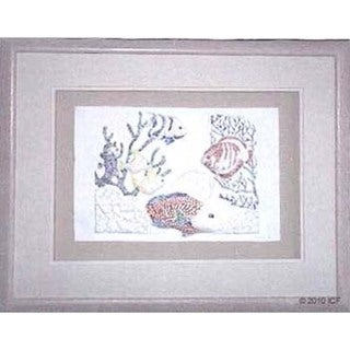 Cast Paper 'Coral Reef I' 18x22 Indoor or Outdoor Option Available