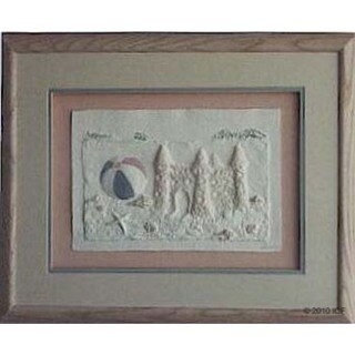 Cast Paper 'Sand Castle' 18x22 Indoor or Outdoor Option Available