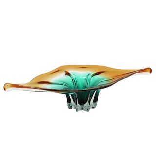 Urban Designs Glossy Glass 25-inch Wide Decorative Bowl