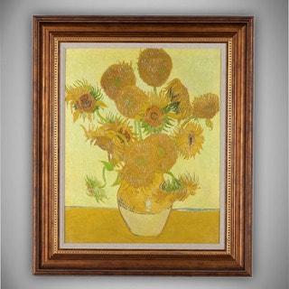 Vincent van Gogh 'Sunflowers' Framed Canvas Art