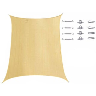 Cool Area UV-block Rectangle Sun Shade with Stainless Steel Hardware Kit