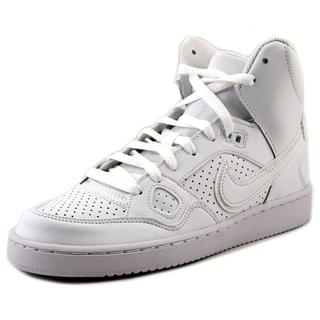 Nike Boys' 'Son of Force Mid GS' White Leather Athletic Shoes