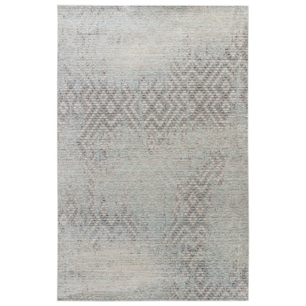Contemporary Vintage Look Pattern Grey/ Neutral Polypropylene Area Rug (7'8 x 10')