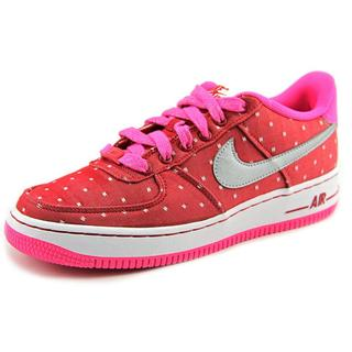 Nike Girls' Air Force 1 (GS) Red Leather Athletic Shoes