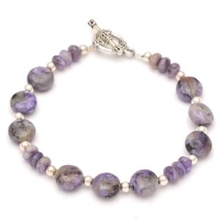 Healing Stones for You Charoite Disc Bracelet