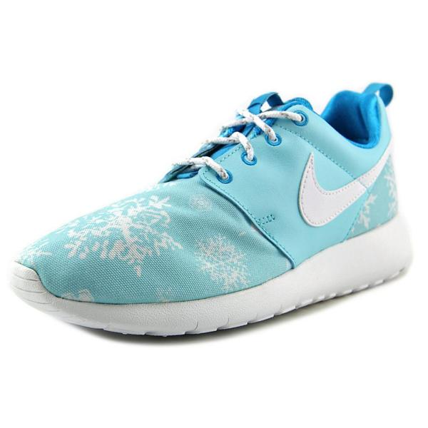 Nike Girls' 'Roshe One Print' Blue Basic Textile Athletic Shoes