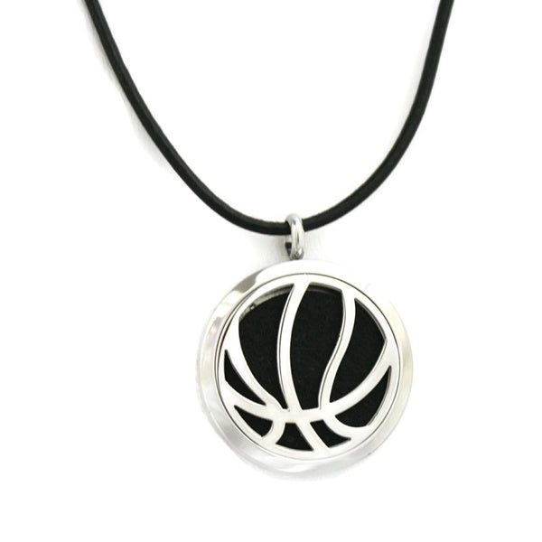 Basketball Stainless Steel Essential Oil Diffuser Necklace