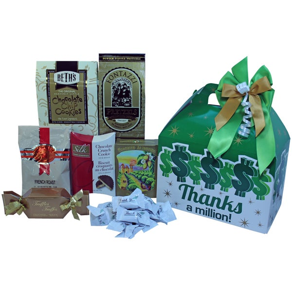 Art of Appreciation Thanks A Million Gable Gift Box of Snacks and Gourmet Treats