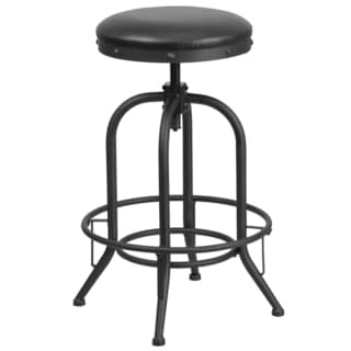 30-inch Barstool with Swivel Lift Leather Seat