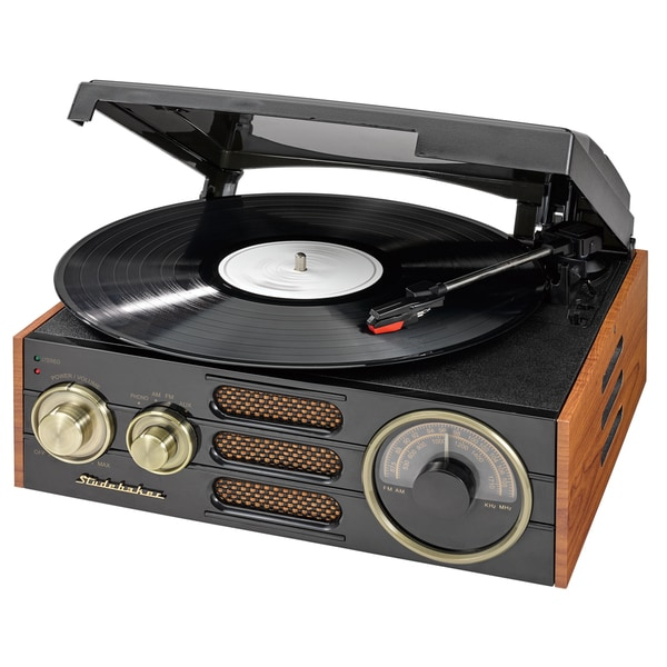 Studebaker 3-speed Stereo Turntable with AM/FM Stereo Radio