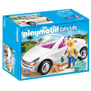 Playmobil City Life 5585 Kids 4-10 Convertible with Woman and Puppy