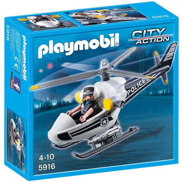 Playmobil City Action Police Copter Playset 19380102