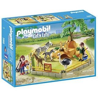 Playmobil Multi-color City Life Wild Animals Enclosure Play Set