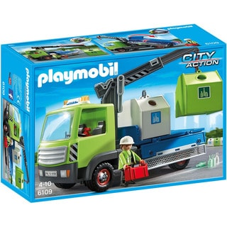 Playmobil City Action Glass-sorting Truck Playset