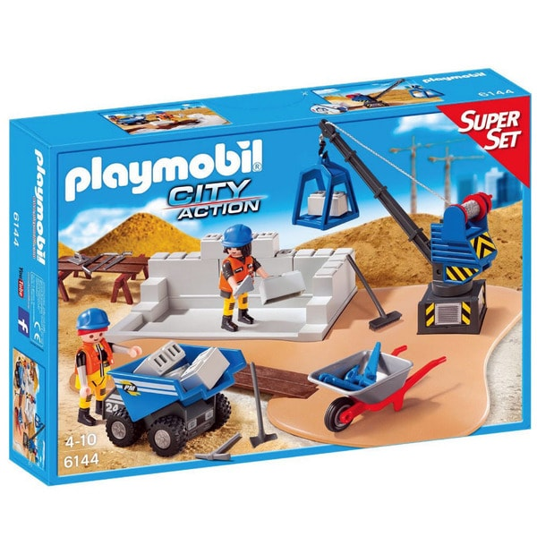 Playmobil City Action Construction Site Super Set 6144 Playset
