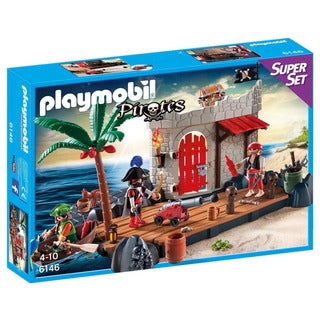 Playmobil 6146 Pirate Fort Super Set Playset for Kids 4 to 10