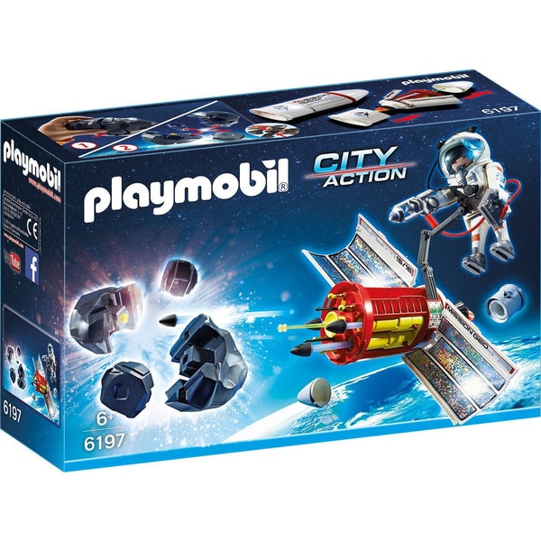 Playmobil 6197 Kids 6+ City Action Satellite Meteoroid Laser with Astronaut 19380143