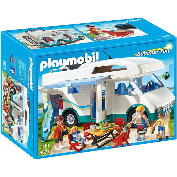 Playmobil Multicolor Summer Fun Summer Camper Play Set 19380144