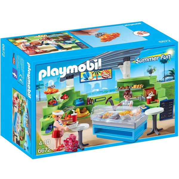 Playmobil 6672 Summer Fun Splish-Splash Cafe for Kids 4 to 10
