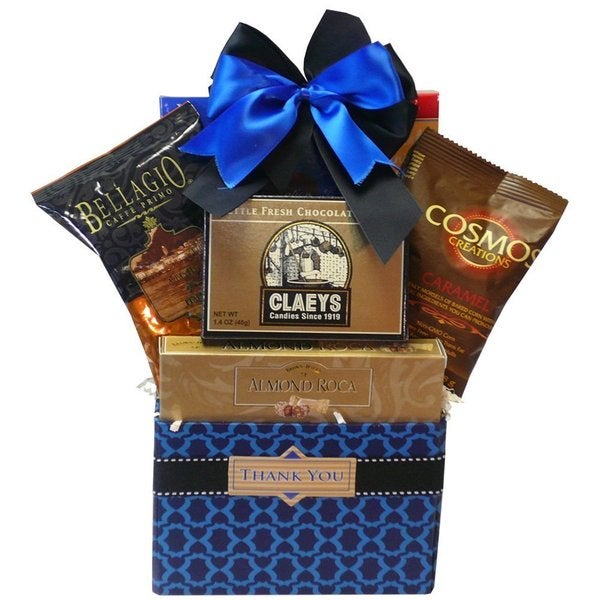 Art of Appreciation Gift Baskets Thank You Desk Caddy Coffee and Treats Gift Basket