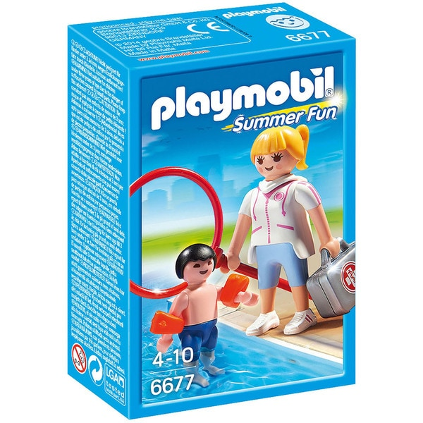 Playmobil Summer Fun Pool Supervisor 6677 Play Set (for Kids 4 to 10)