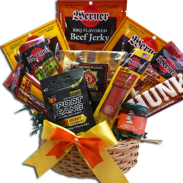 Art of Appreciation Gift Baskets Manly Man's Meat and Snack Food Gift Basket