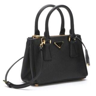 Prada Galleria Saffiano Leather Black Mini Bag