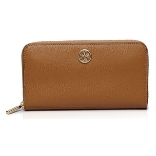 Tory Burch Robinson Zip Continetal Wallet - Tiger's Eye