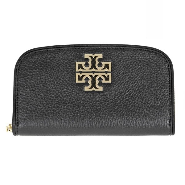 Tory Burch Britten Zip Continental Wallet - Black