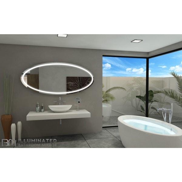 IB Mirror Tokyo Aluminum/Glass 70-inch x 32-inch 6,000K Lighted Bathroom Mirror
