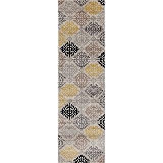 Multicolor Polypropylene Geometric Indoor Area Runner Rug (2' x 7'2)
