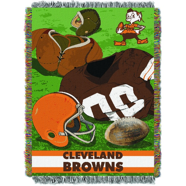 NFL 051 Browns Vintage Throw