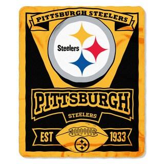 NFL 031 Steelers Marque Fleece Throw