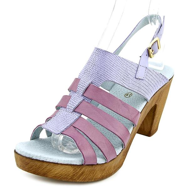 Eric Michael Women's Barbara Purple Leather Casual Shoes