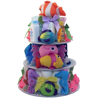 Art of Appreciation Under the Sea Baby Bath Gift Tower