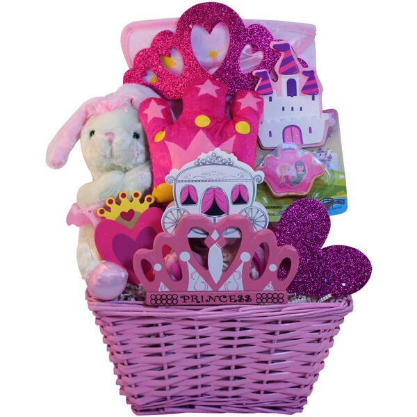 Art of Appreciation Gift Baskets Pink/Purple/White Small Little Princess Baby Girl Gift Basket