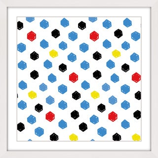 Marmont Hill 'Brush Dots' Framed Painting Print