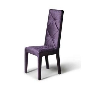 Versus Eva Purple Fabric Chair (Set of 2)